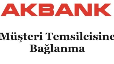 Akbank Müşteri Temsilcisine Bağlanma