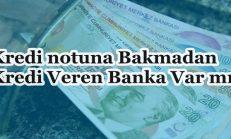 Kredi Notuna Bakmadan Kredi Veren Banka Var mı?