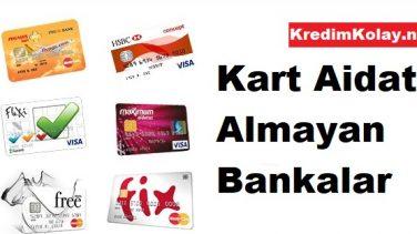 Kart Aidatı Almayan Bankalar 2019