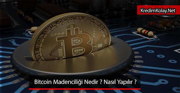 bitcoin madenciliği nasıl yapılır