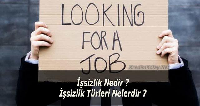 işsizlik türleri