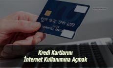 Kredi Kartı İnternet Alışverişine Nasıl Açılır?